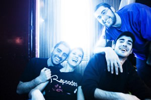 La banda de hip hop Rapsodes després d'un concert a la Sala Durango de València.