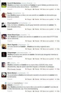 Recull de crítiques a Shakira al Twitter