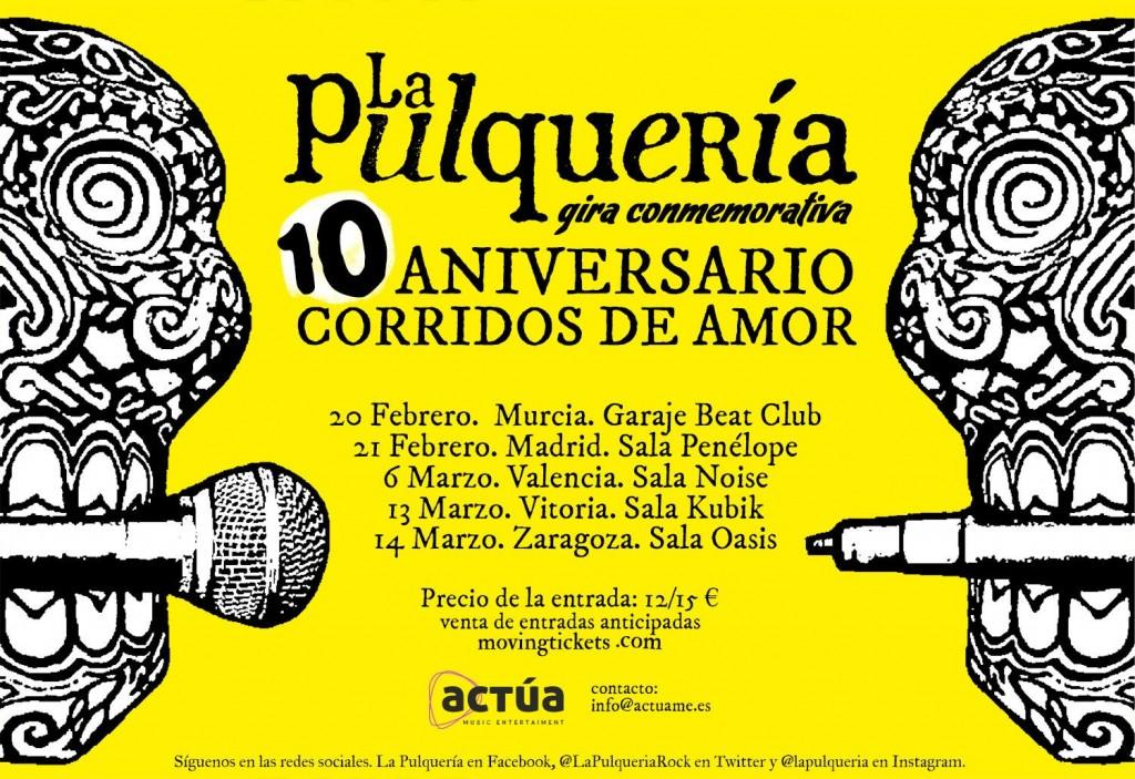 Minigira 10 anys Corridos de Amor La Pulquería
