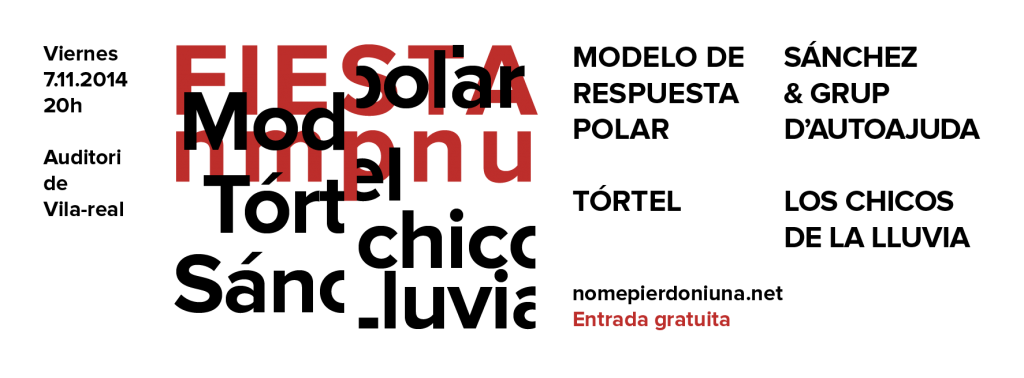 Cartel Fiesta Nomepierdoniuna 2014_Facebook