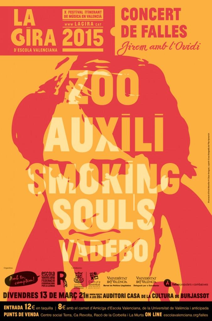 Concert de Falles 2015, Zoo, Auixili, Smoking Souls, Vadebo, Feslloch 2015