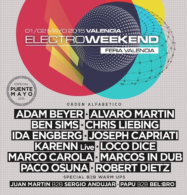 Electroweekend, Techno, València, 2015