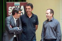 Botifarra i Pau Chàfer amb el President de la Diputació Jorge Rodríguez