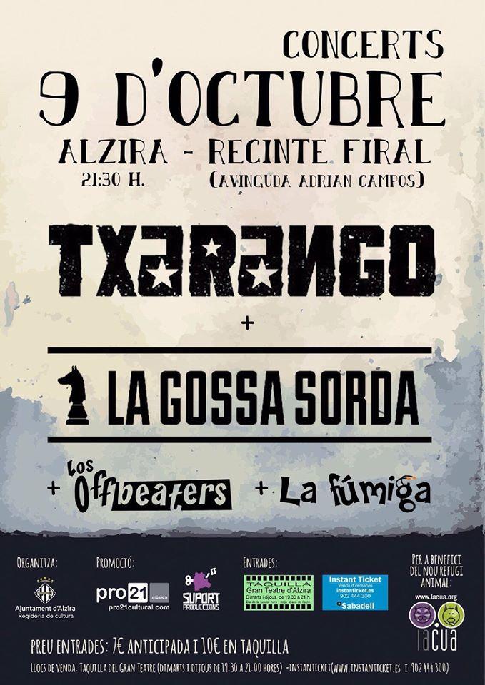 cartell Concerts 9 octubre