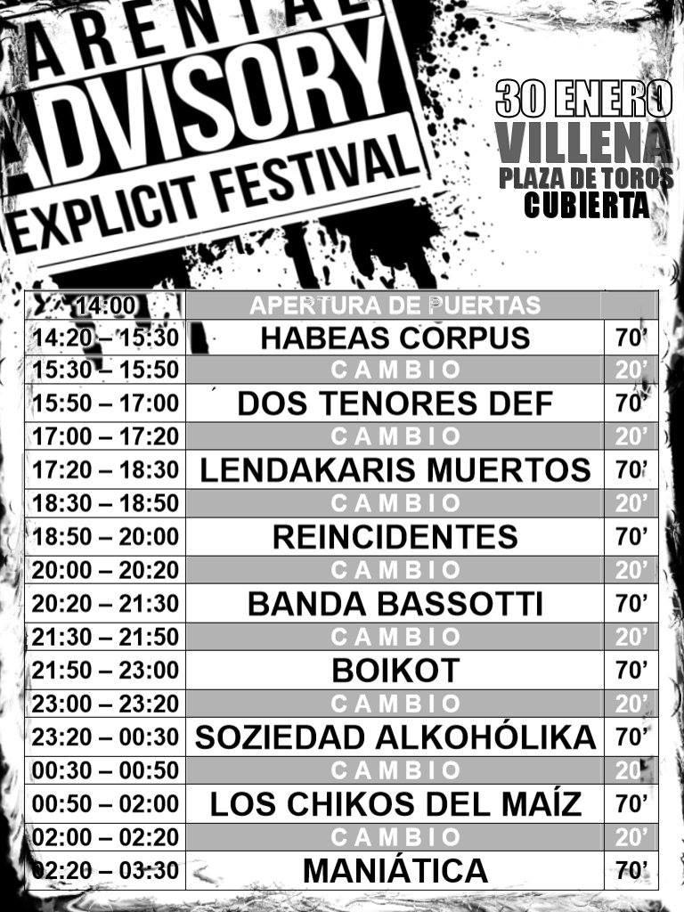 Parental Advisory Festival Villena
