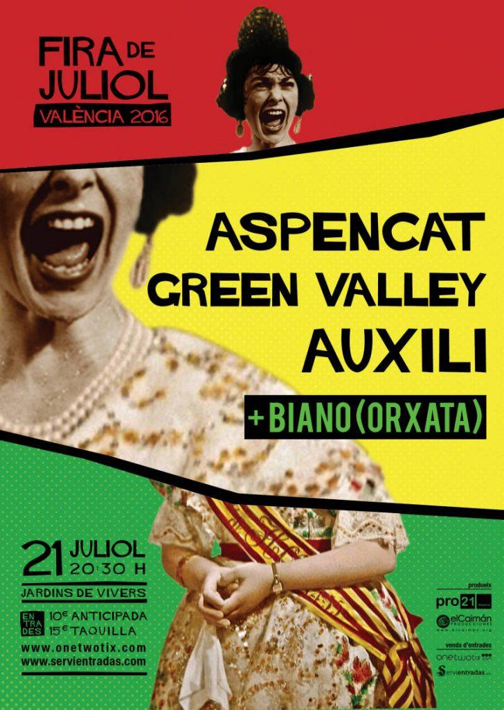 Concerts Aspencat València Fira de Juliol