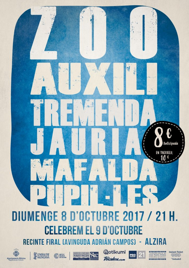 Cartell del concert del 9 d'octubre d'Alzira