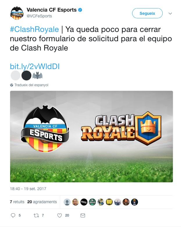 El València C.F comença inicia una nova aventura a Clash Royale