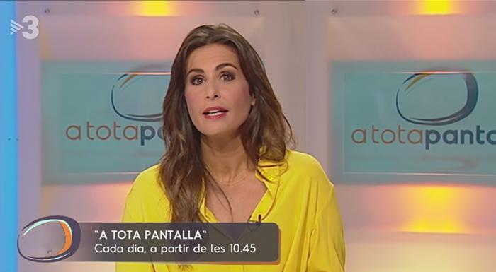 Nuria Roca debuta a Tv3 amb el seu nou programa 'A tota pantalla'