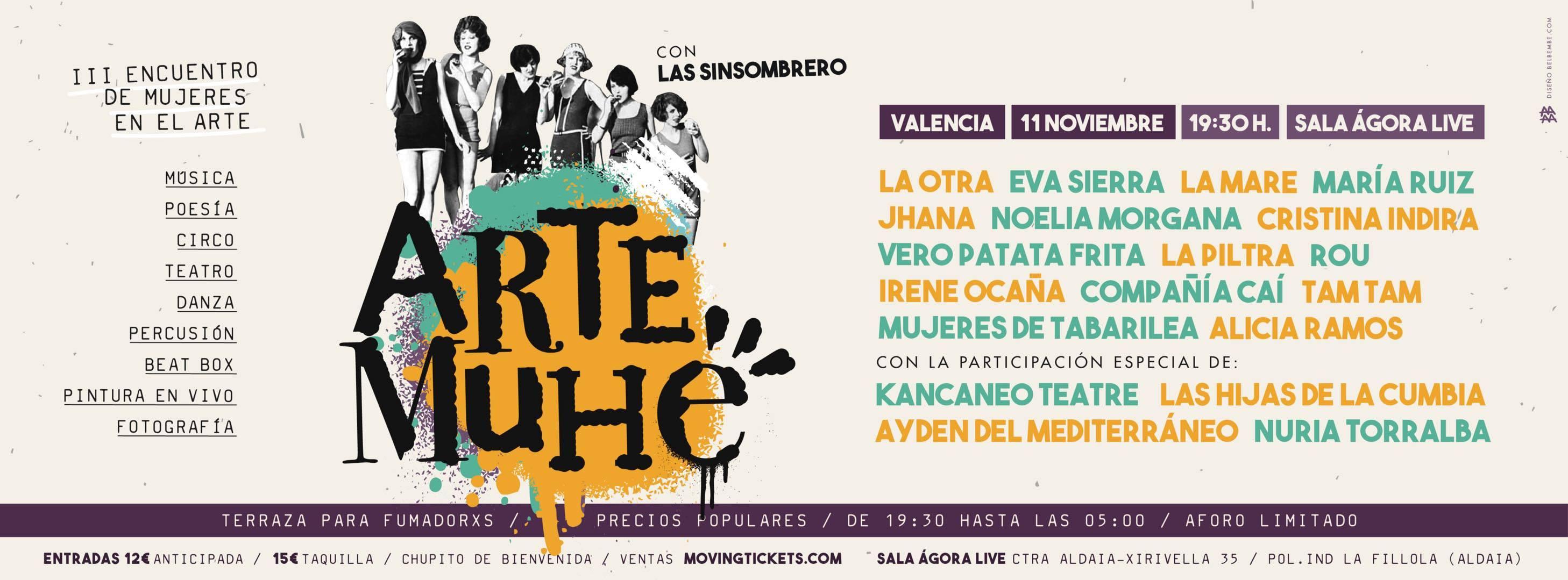 Arte Muhé se celebrarà dissabte a Àgora Live