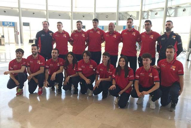 La selecció valenciana abans d'eixir cap a Colòmbia