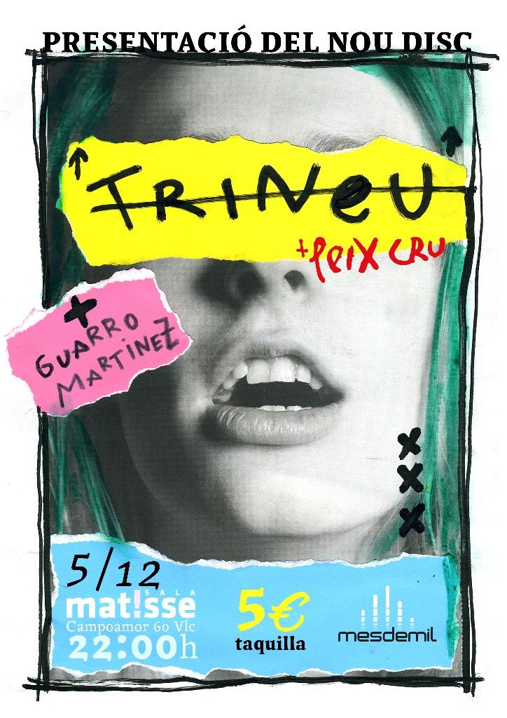 Cartell concert de presentació 'Peix Cru' de Trineu
