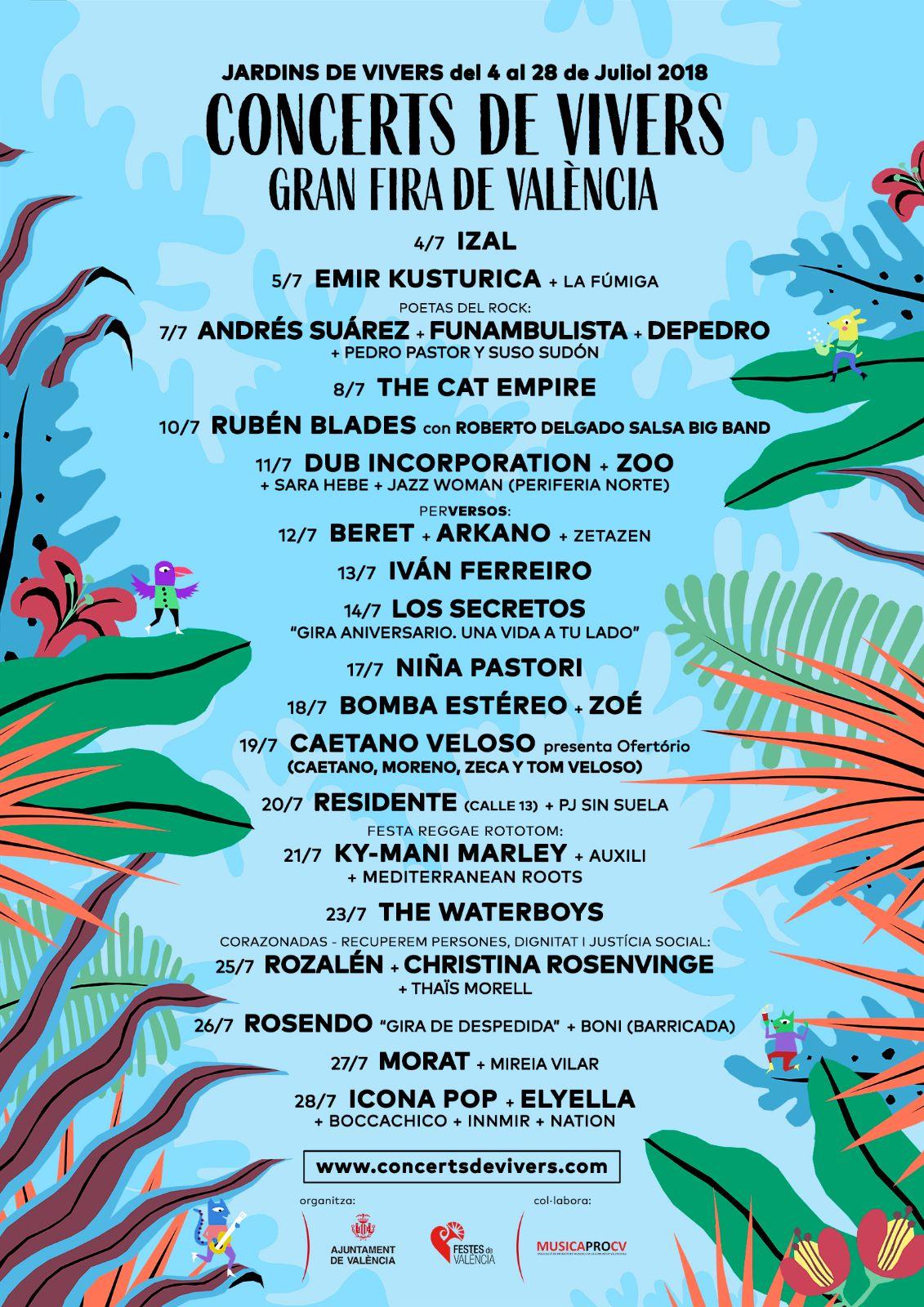 Concerts de Vivers 2018