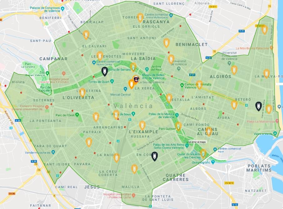Mapa Yego