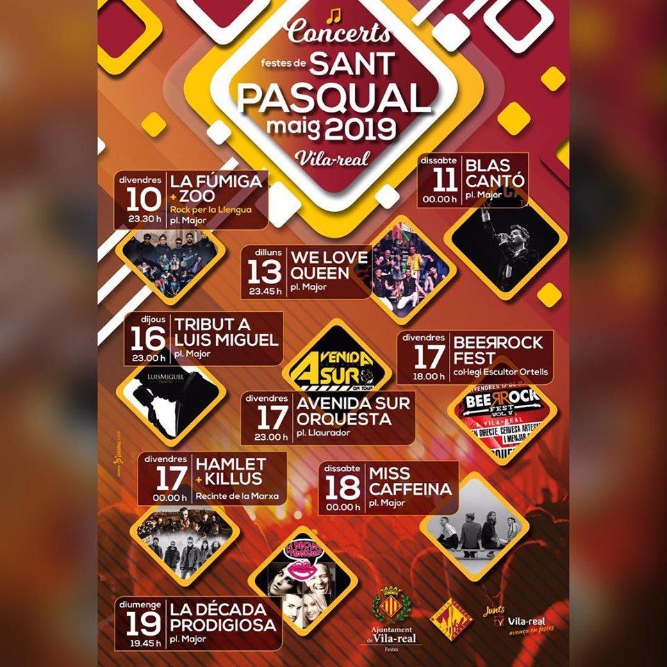 Concerts Sant Pasqual Vila-real 2019