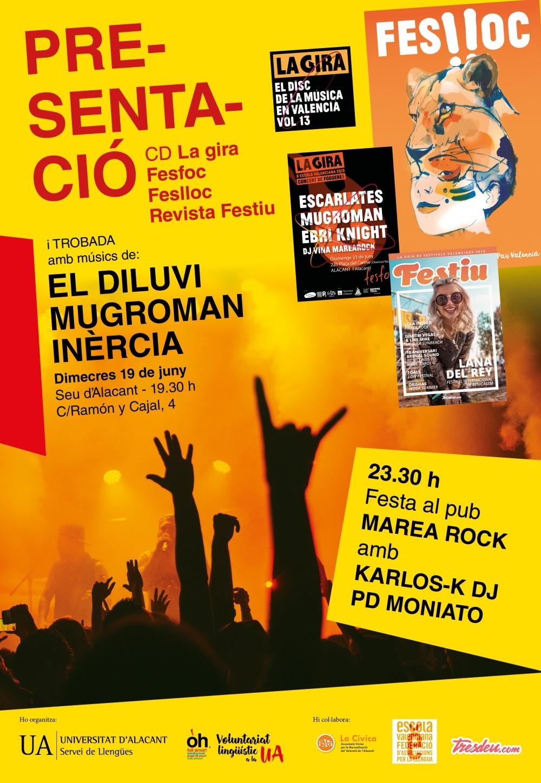 Cartell Presentació Festiu La Gira Universitat Alacant