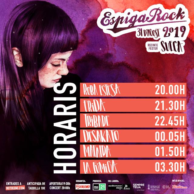 Horaris EspigaRock 2019