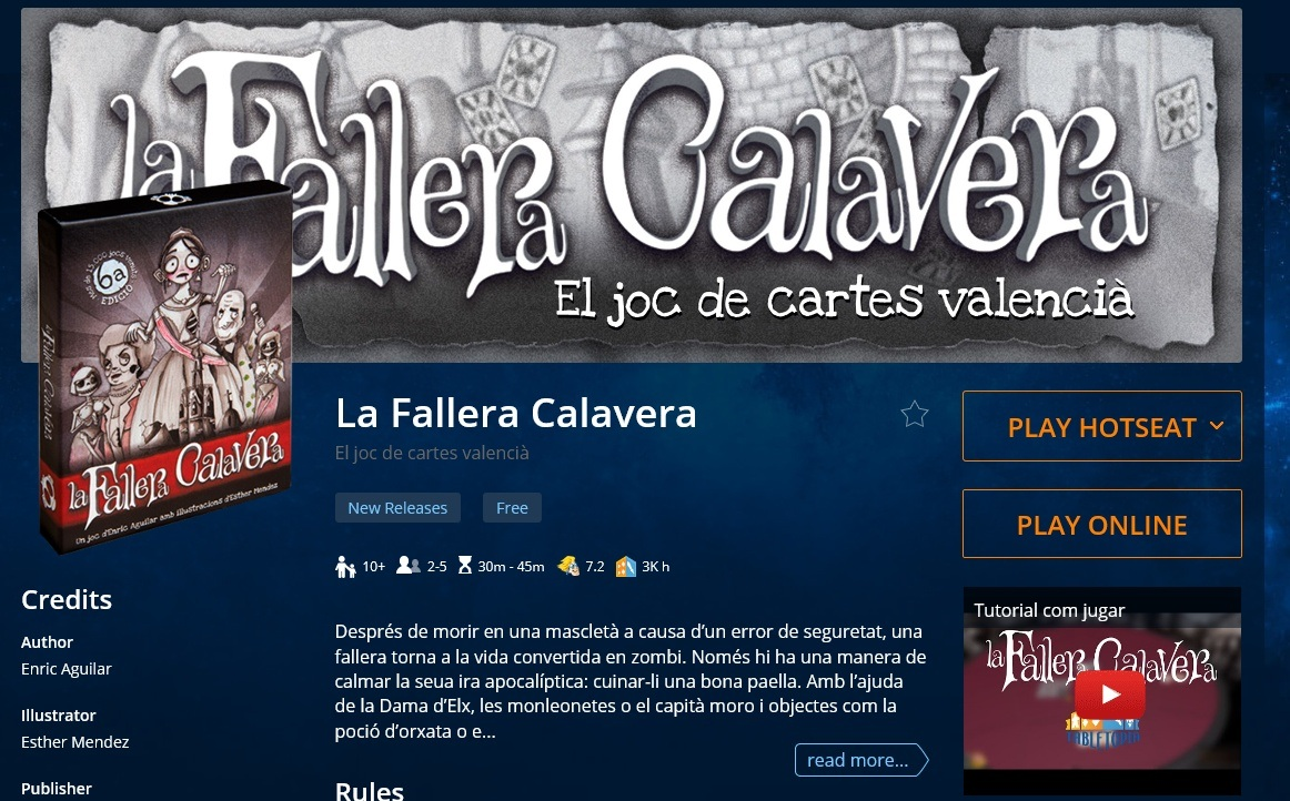 La Faller Calavera Online